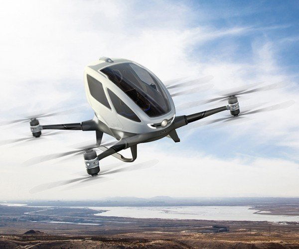 Ehang 184 Drone is Designed to Ferry Humans: Optimus Prime Air