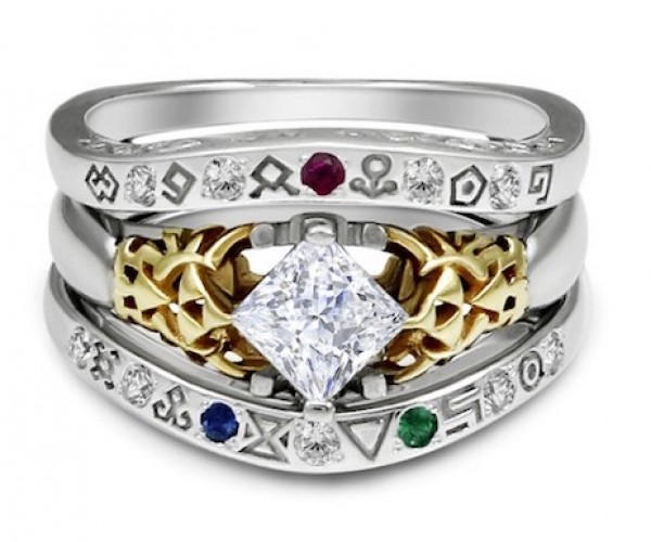 Zelda Gate of Time Wedding Ring: Ringtendo