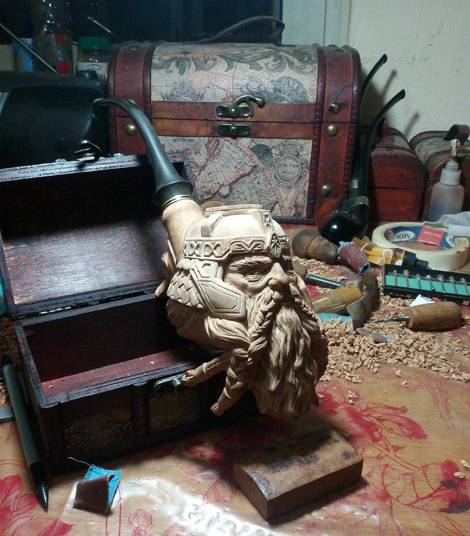 Gimli Smoking Pipe Will Scorch Your Wallet And Your Axe