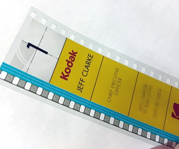 Kodak's CEO Uses 35mm Film Business Cards