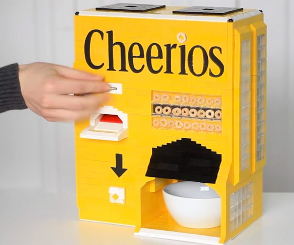 LEGO Machine Dispenses Cheerios and Milk