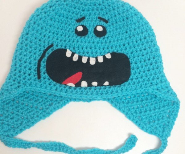 Mr. Meeseeks Crochet Hat: I'm Mr. Meeseeks, Look at Me!