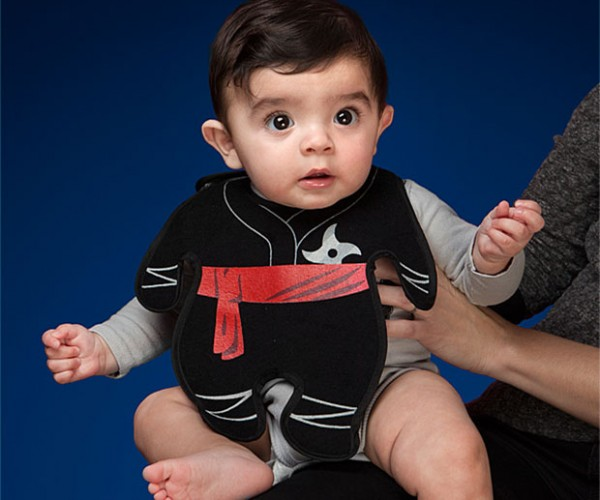 Ninja Bib Keeps Babies Clean and Deadly