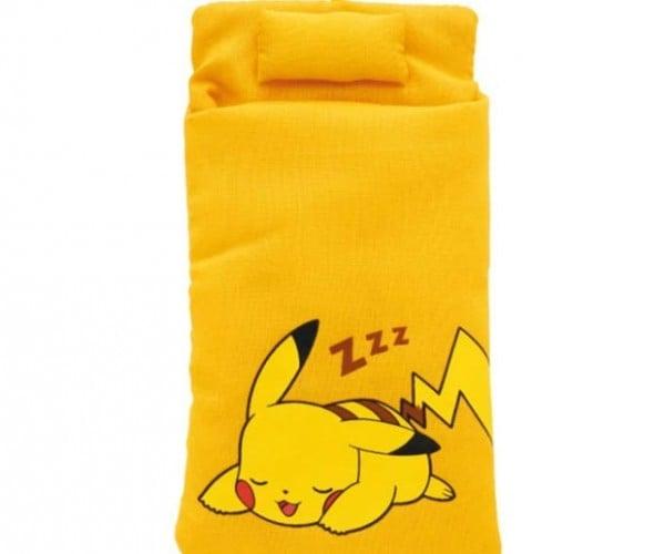 Pikachu Sleeping Bags For Smartphones Activate Sleep Mode