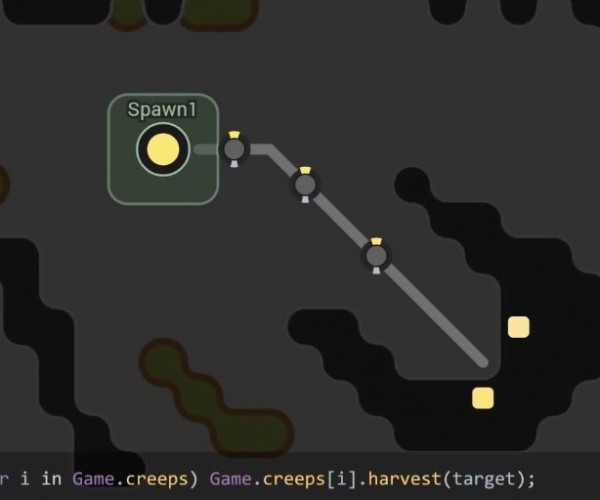Screeps MMORTS is Played Using JavaScript: Command & Console