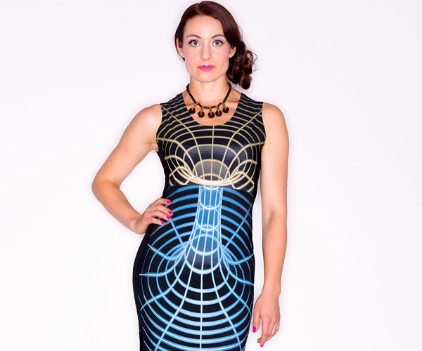 Shenova Space-Time Warp Dress Bridges Science and Style