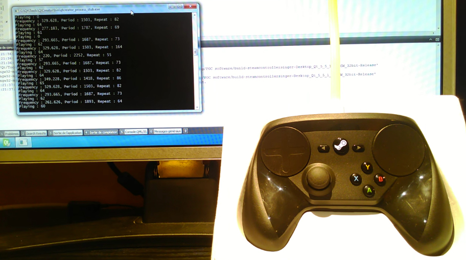 Steam Controller S Haptic Motors Used To Play Music Shake