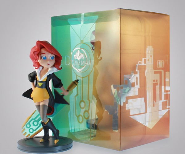 Transistor Red Figurine Awaits Her Turn()