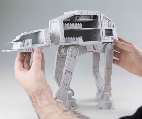 DIY 3D Printed AT-AT Cutaway: Walker with a Half Shell
