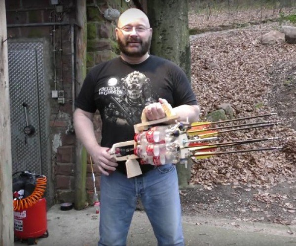 The Full-auto Coke Bottle Gatling Gun