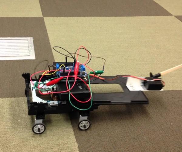 Crawling DVD Drive Robot: RIP