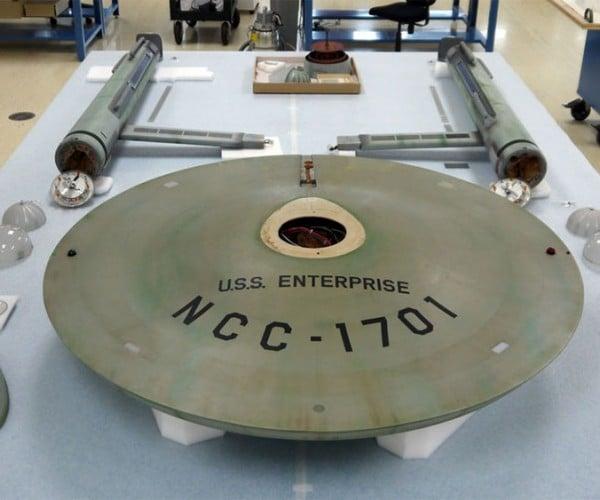 USS Enterprise Rebuild Underway at Smithsonian Space Dock