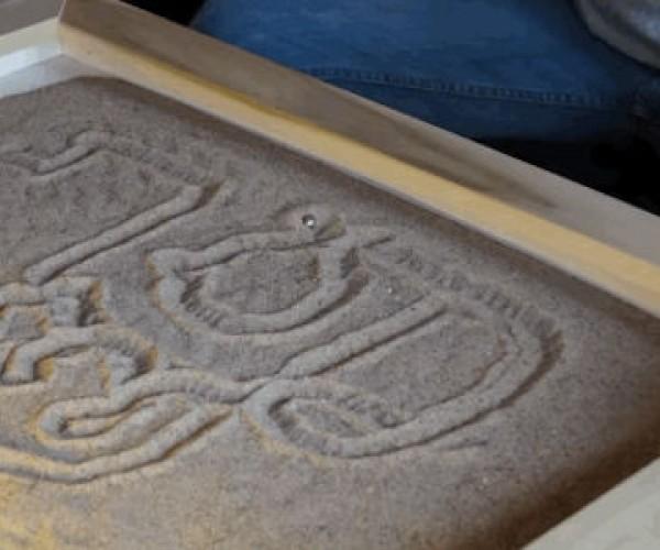 Etch a Sketch Zen Garden Coffee Table: Sand De-stresser
