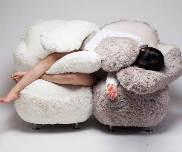 The Free Hug Sofa Gives You Hugs All Day Long