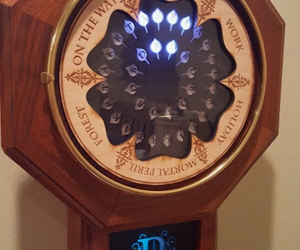 Digital Weasley Clock: Muggle Magic