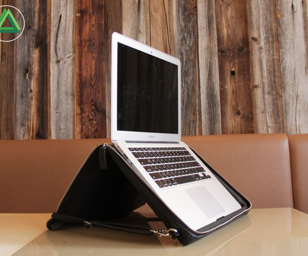 HELCY Laptop Bag & Stand: Encapsulate & Elevate
