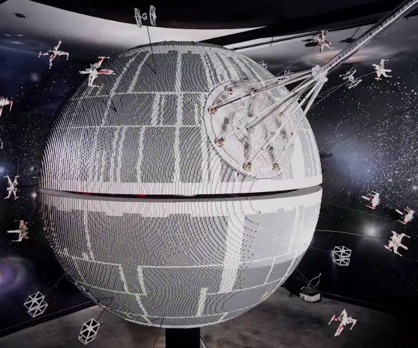500,000 Brick LEGO Death Star at LEGOLand Windsor