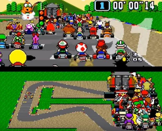 super mario kart racing