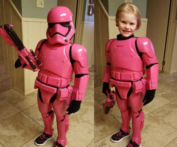 Dad Creates Awesome Pink Stormtrooper Costume for Daughter: Cute Order