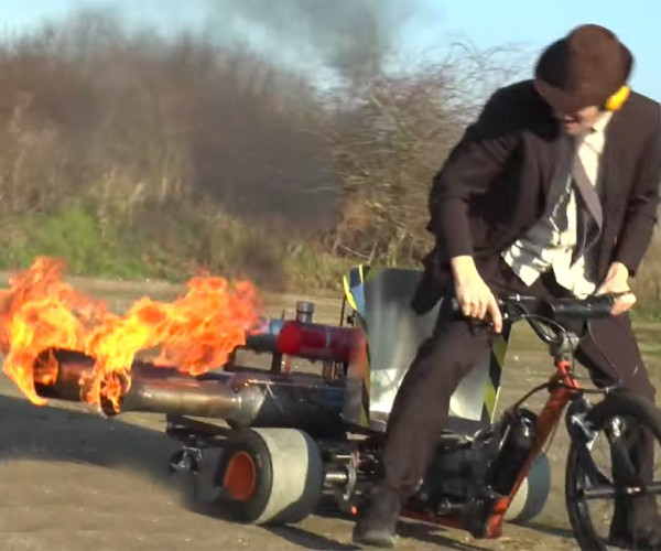 Colin Furze Adds a Pulse Jet to His Motorized Drift Trike