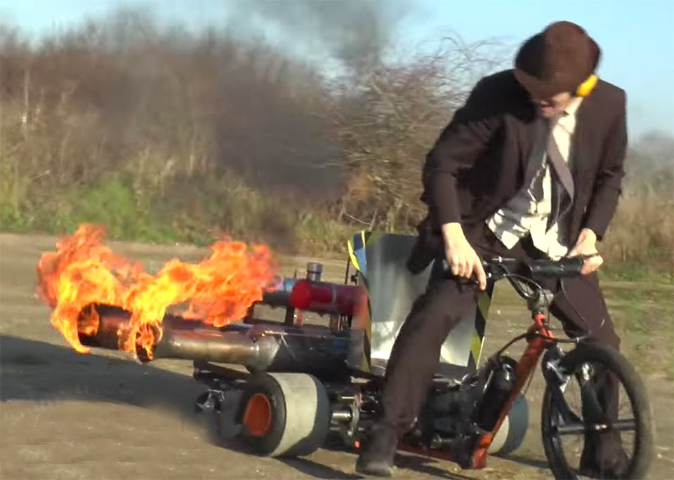Colin Furze Adds A Pulse Jet To His Motorized Drift Trike Technabob
