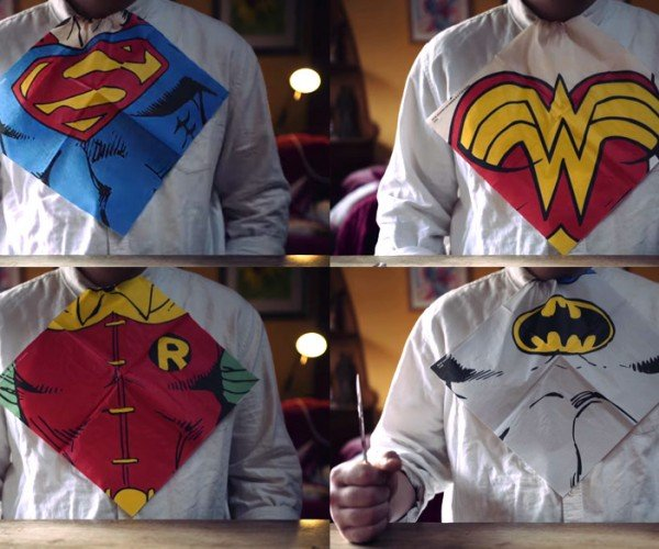 Dress-up Napkins for Superhero Slobs