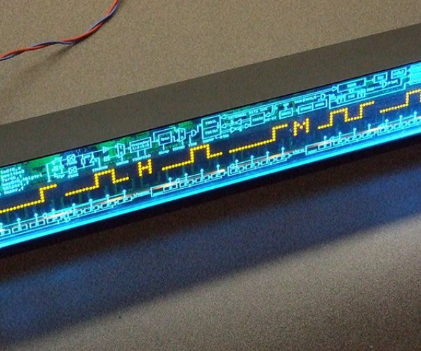 Waveshape Binary Clock Has Glitches for Laymen