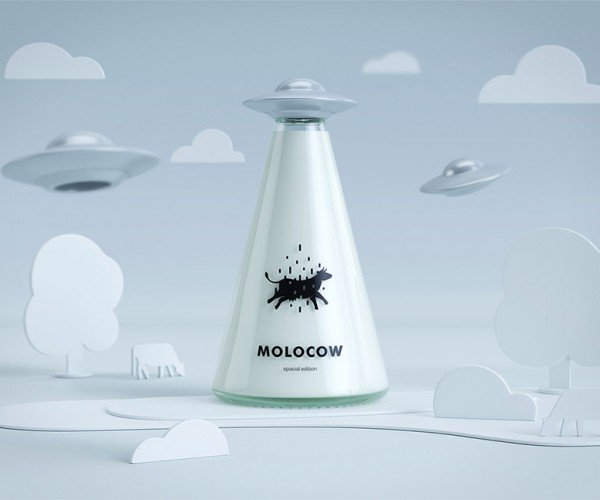This Milk Packaging Is All about Alien Cow Abduction