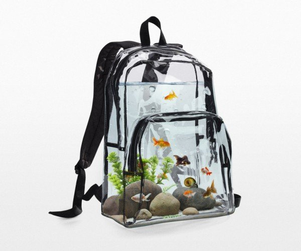 Aquarium Backpack Takes Your Fish to School