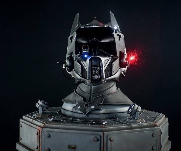 Batman-themed Scout Trooper Helmet: Biker Bat from Earth