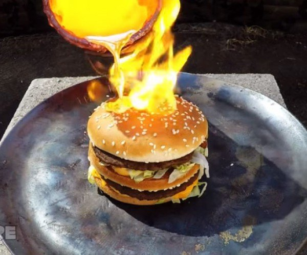 Big Mac Gives the Finger to Molten Copper