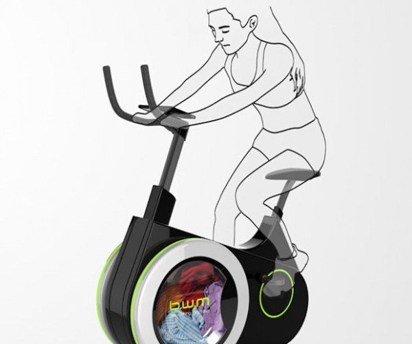 The Bike Washing Machine Lets you Exercise and Wash Clothes at the Same Time
