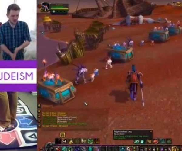 This Guy Tries to Reach Level 100 in WoW Using a Dance Pad