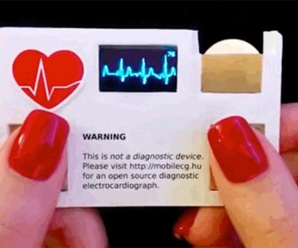 ECG Business Card Makes my Heart Race