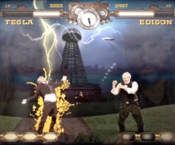 Tesla Vs. Edison Fighting Game: Now You're Playing with Power!