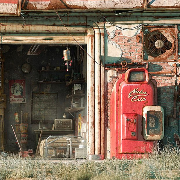 Fallout 4 wall art scenes from the wasteland for Fallout 4 mural