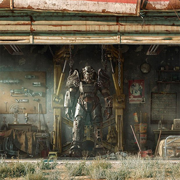 Fallout 4 wall art scenes from the wasteland technabob for Fallout 4 mural