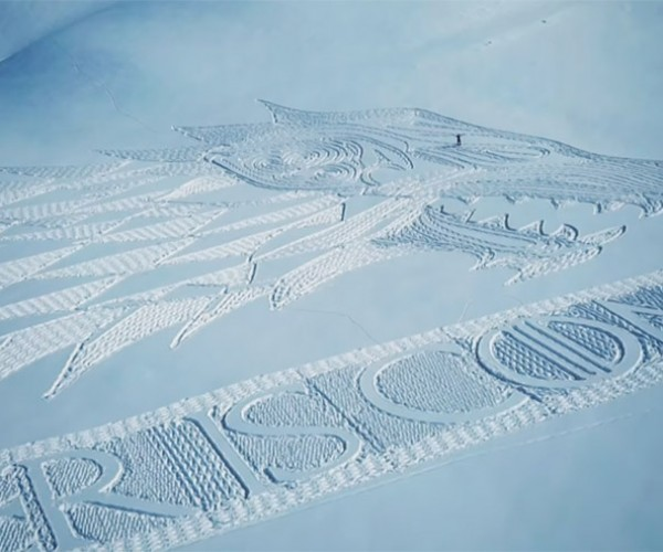 Artist Creates Giant House Stark Sigil in Snow
