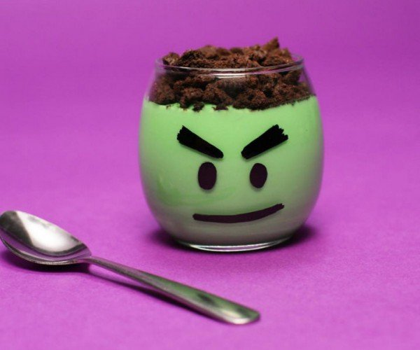 These Incredible Hulk Pudding Cups Are Smashing