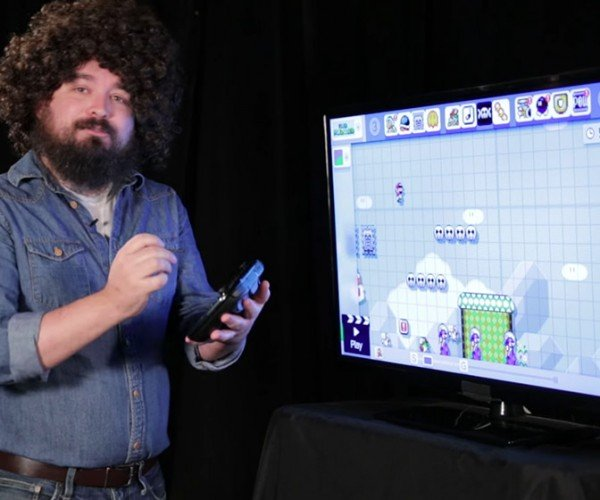 Fake Bob Ross Builds a Super Mario Level