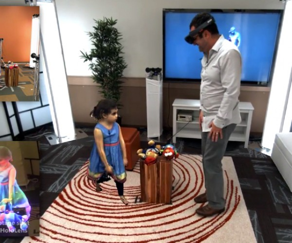 Microsoft Holoportation Augmented Reality Chat App: Hatsune, Me, You