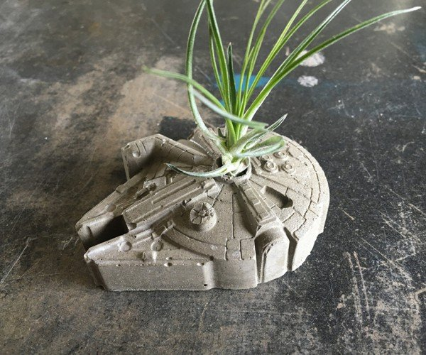 Death Star & Millennium Falcon Planters: The Green Side of the Force