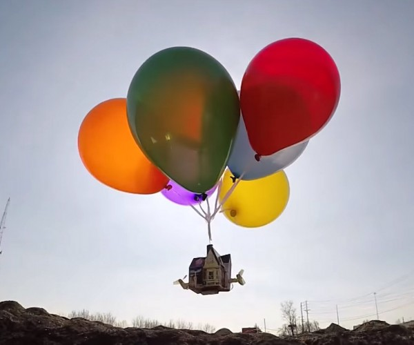 "Flying Remote Controlled ""Up"" House is… Squirrel!"