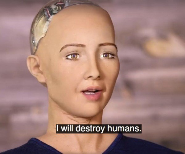 This Humanoid Robot Wants Us Dead