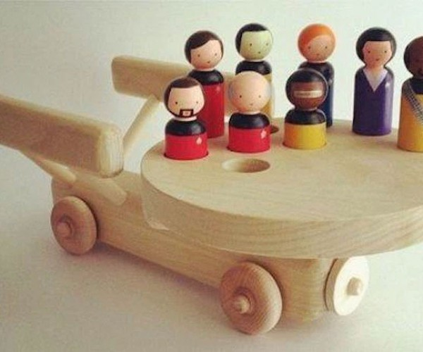 Star Trek The Next Generation Wood Toy: Woodship Enterprise