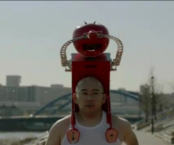 Tomatan Is a Wearable Robot That Feeds You Tomatoes While You Run
