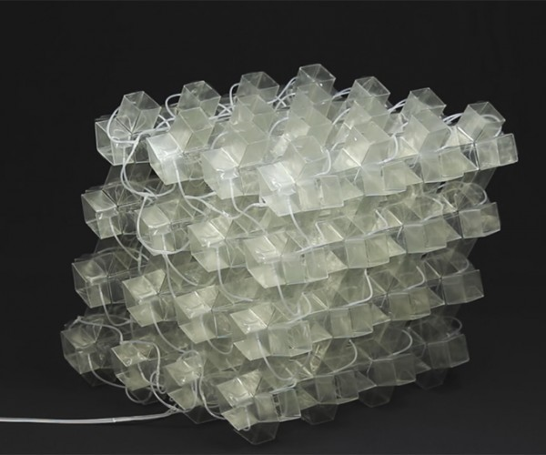 Modular Metamaterial Can Be Programmed to Shapeshift: Real Life DynoCaps