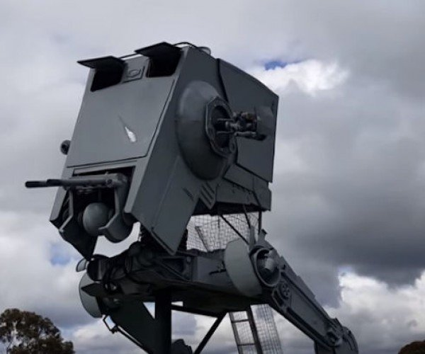 Guy Builds Life-Size AT-ST