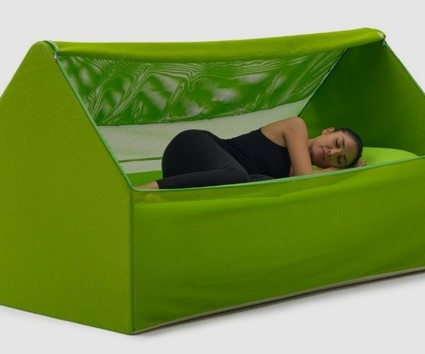 This House-Shaped Tent Is Also Couch and a Bed