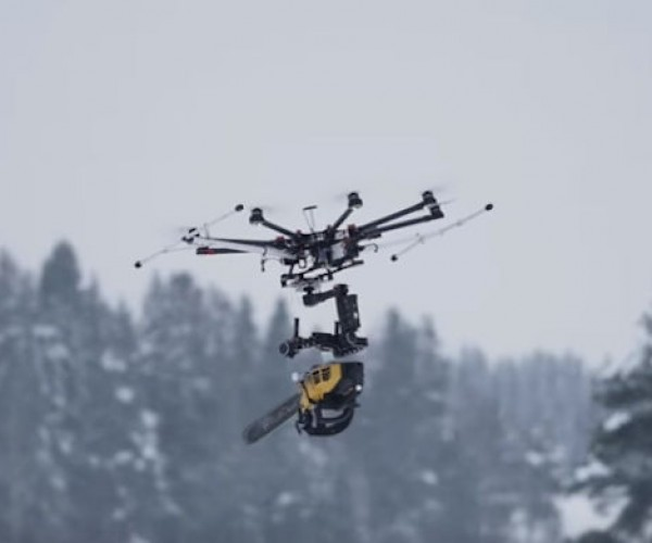 This Chainsaw-wielding Drone Is Powered By Nightmare Fuel